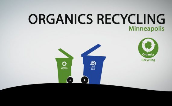 Organics Recycling two carts and logo