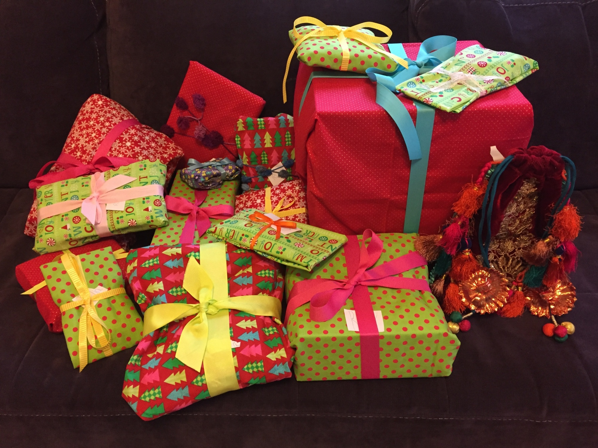 Image of presents wrapped in cloth